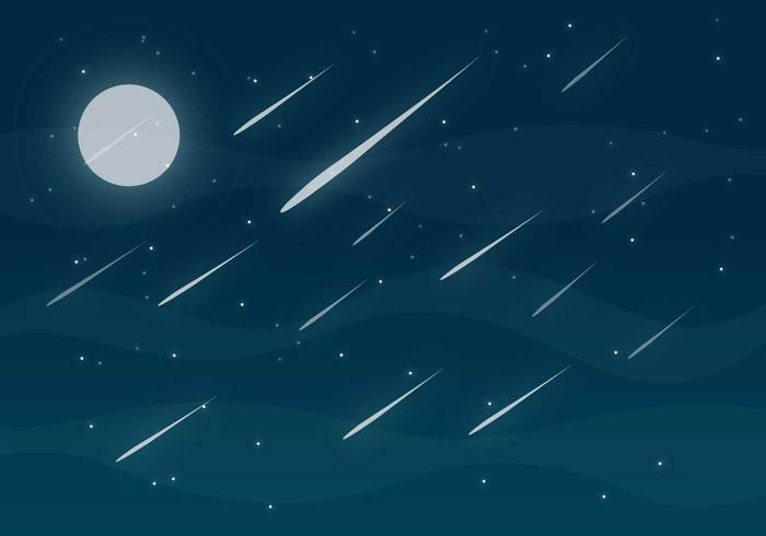 Meteor Shower Free Vector.