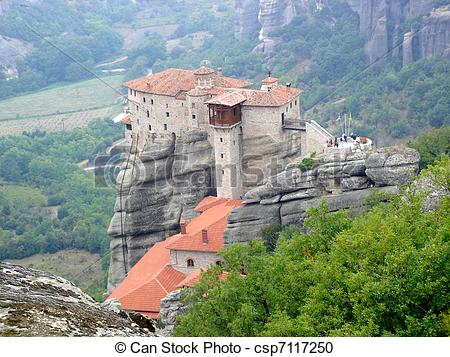Stock Photography of The Holy Monastery of Rousanou. Meteora.