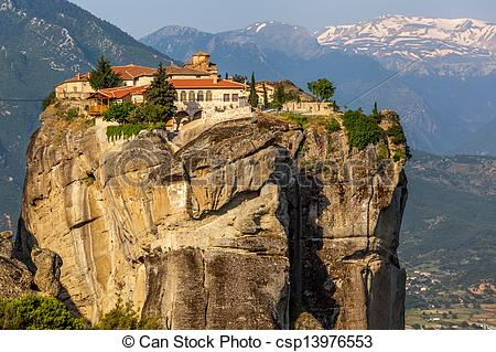 Stock Images of The Monastery of the Holy Trinity (1475), Meteora.
