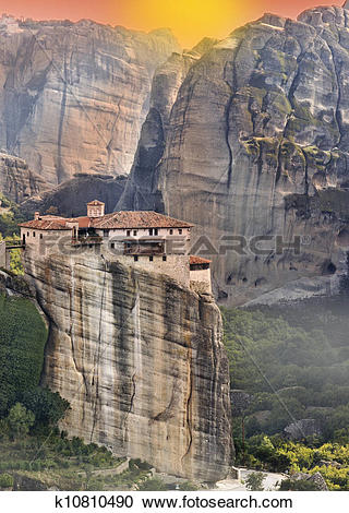 Stock Photography of Monastery at Meteora in Greece k10810490.