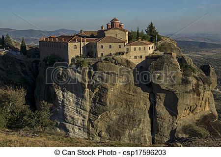 Stock Photography of Meteora, Monastery of St. Stephen.