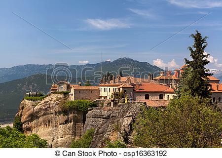 Stock Photographs of Meteora Monasteries, Greece csp16363192.
