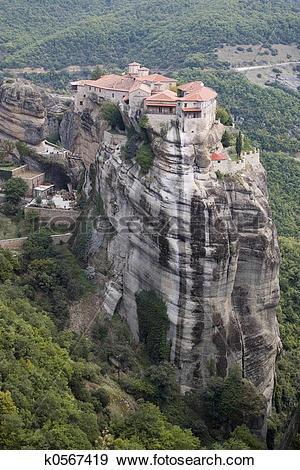 Stock Photograph of Monastery at Meteora k0567419.