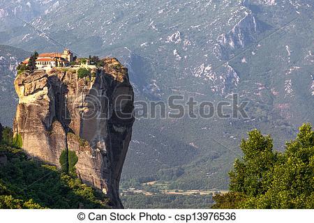 Stock Photos of Greece, Meteora, monastery Holy Trinity, was a.