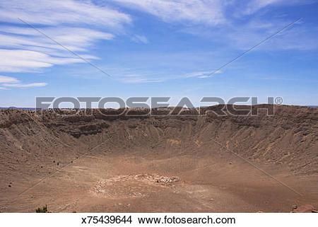 Stock Photo of Meteor Crater, Arizona. x75439644.
