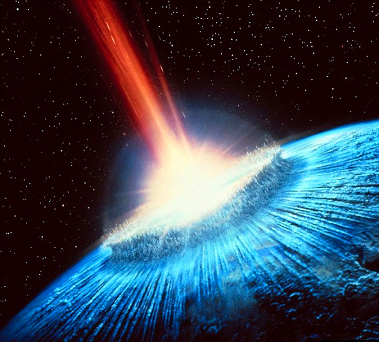Asteroid Strike Clip Art.