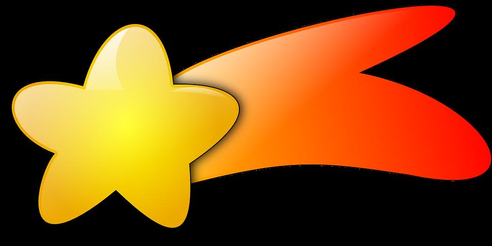 Free vector graphic: Shooting, Star, Meteoroid.