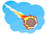 Space Comet Clipart.