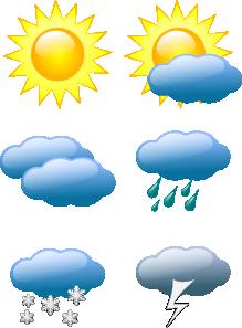 Weather Symbols clip art Free Vector / 4Vector.