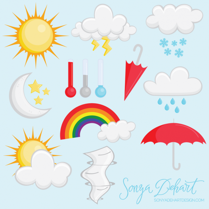 Clip Art Weather Set.