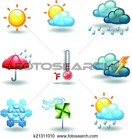 Clipart of Different weather conditions k21311010.