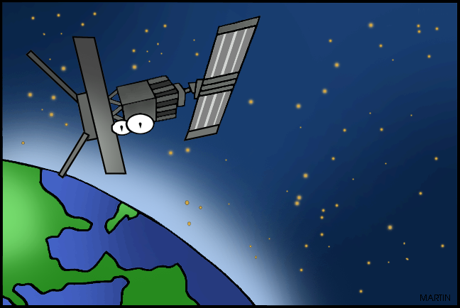 Space satellite clipart.