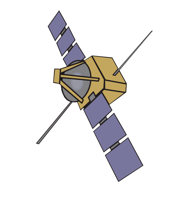 Weather satellite clipart.