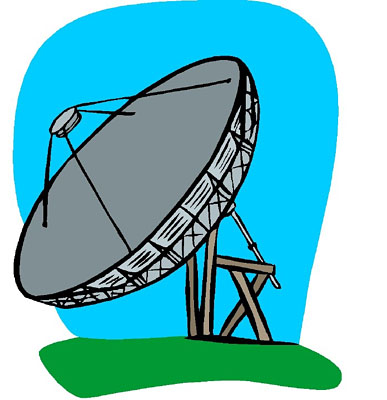 Weather Satellite Clip Art.