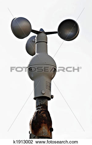 Stock Photo of an Anemometer at a Meteorological station k1913002.