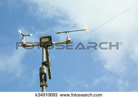 Stock Photo of Meteorological station and tools. k34910693.