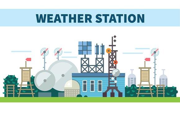 Weather station. Seasons ~ Illustrations on Creative Market.