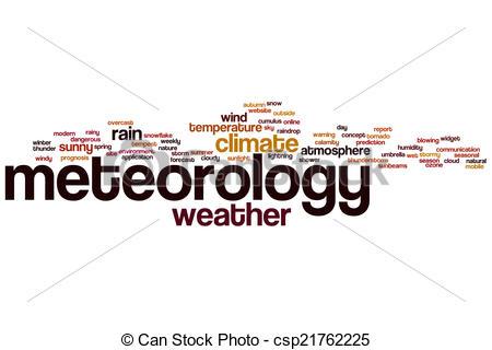 Clip Art of Meteorology word cloud.