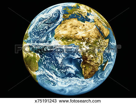 Stock Photo of Meteosat full disc Earth image x75191243.
