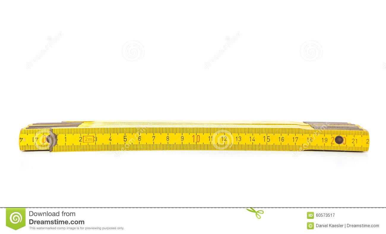 Standard Folding Meter Stick Stock Image.