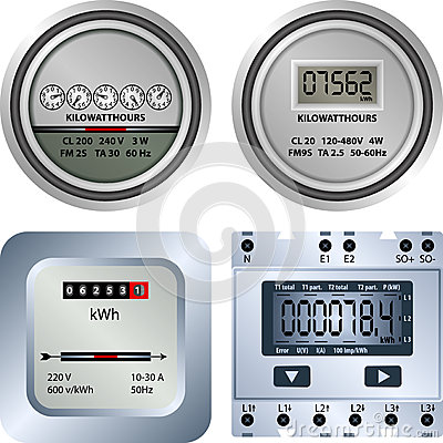 Electric Meter Stock Illustrations.