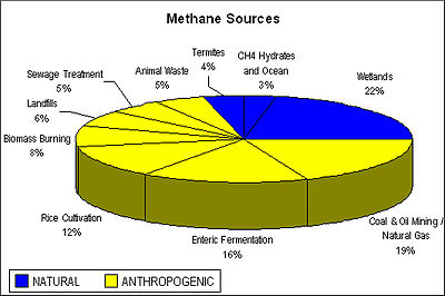 Atmospheric methane.