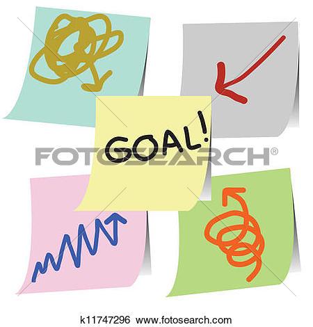 Clip Art of goal method k11747296.