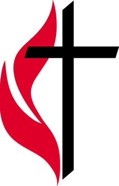 Cross And Flame Clipart United Methodist.