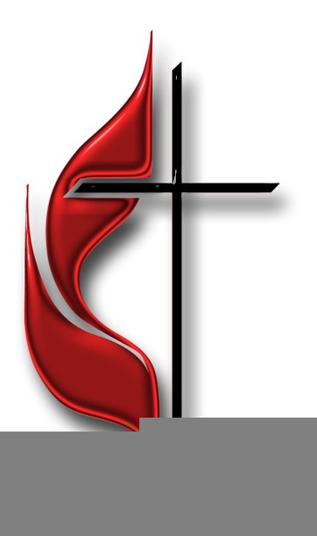 United Methodist Cross And Flame Clipart.