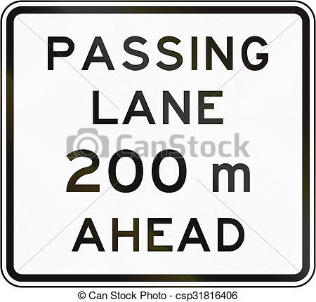 Stock Illustration of New Zealand road sign.