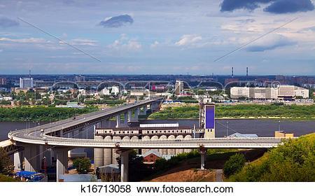 Pictures of View of Nizhny Novgorod. Metro Bridge k16713058.