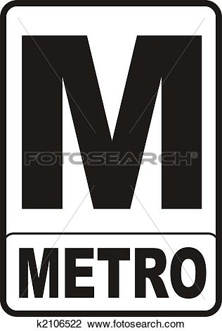 Clip Art of Metro Sign k2106522.