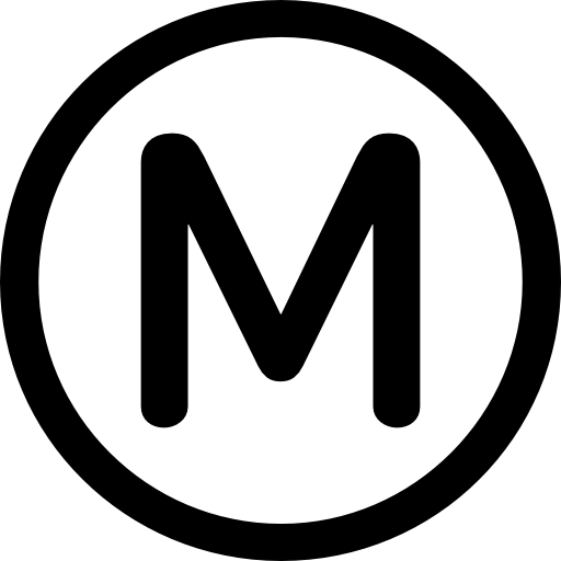Paris transport metro logo Icons.