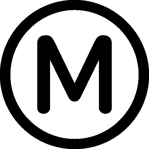 Paris transport metro logo Icons.