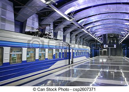 Stock Photography of Train at metro station csp2607371.
