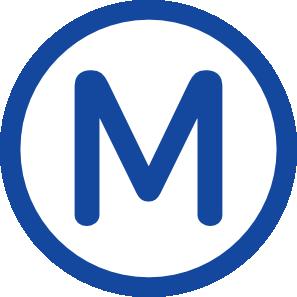 Metro station clipart logo.