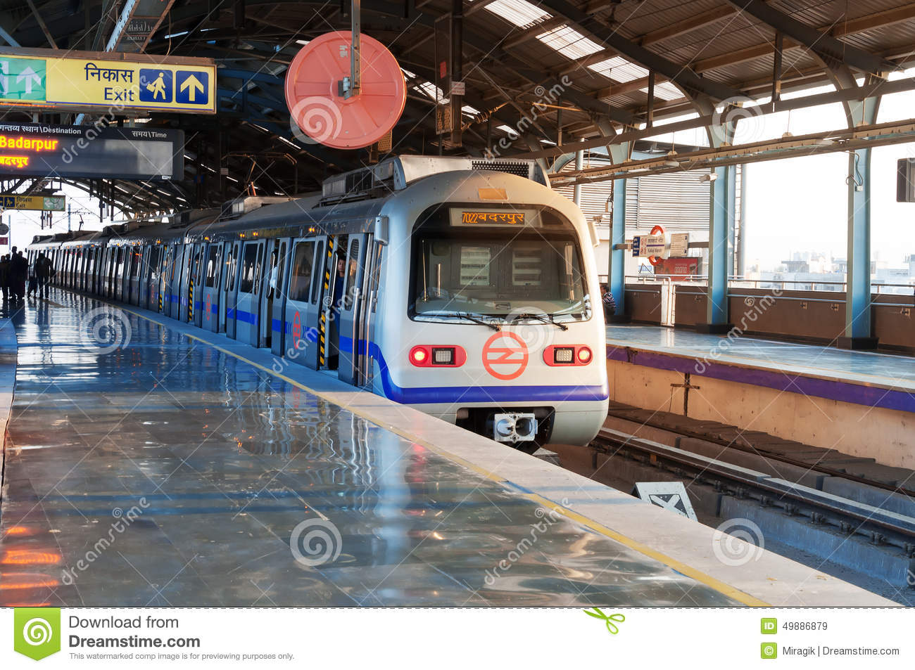 Delhi Metro Station Editorial Stock Image.