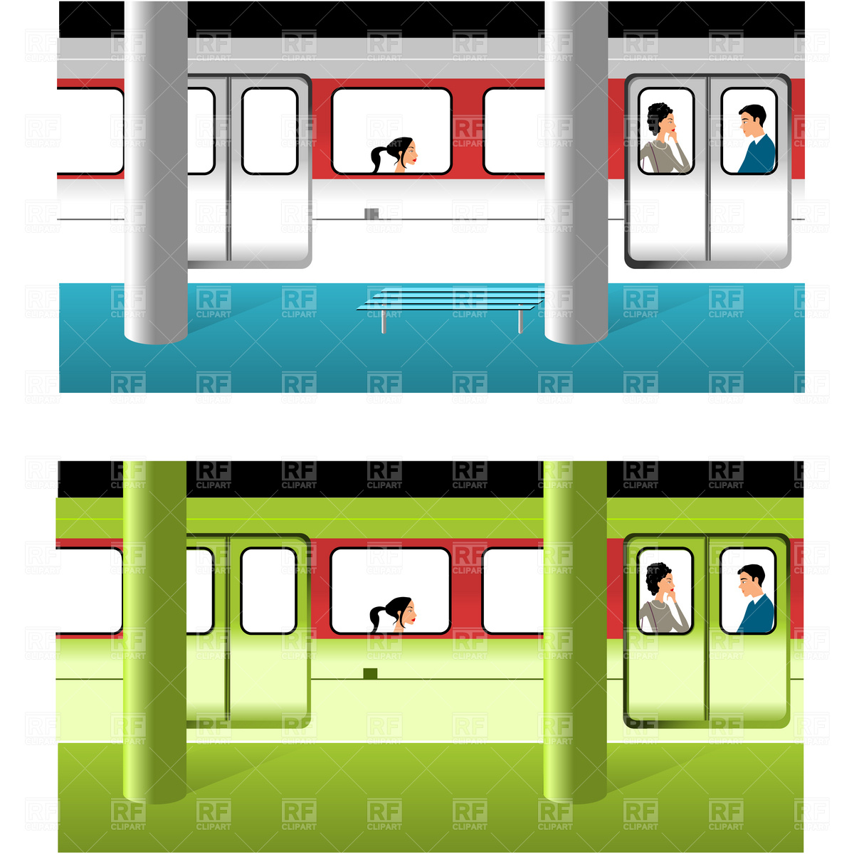 Subway station Vector Image #1914.