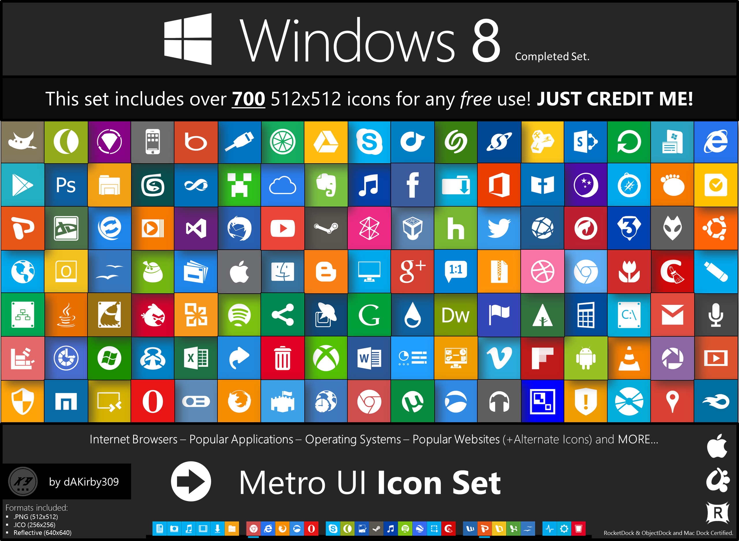 Metro UI Icon Set.