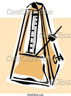 Metronome Clip Art.