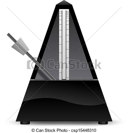 Vector Clip Art of Black metronome vector illustration.
