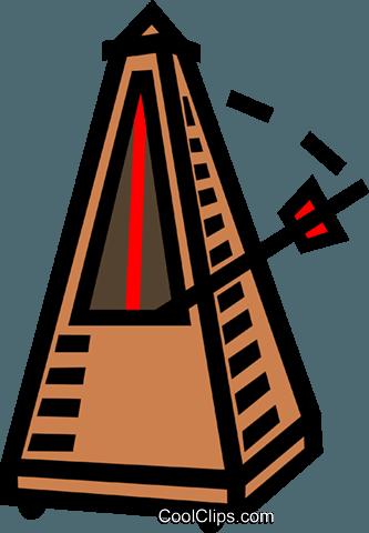 metronome, music, beat Royalty Free Vector Clip Art illustration.