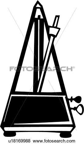 Clip Art of , instrument, metronome, musical, u18169988.