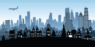 Residential District Cartoon Stock Images.
