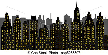 Vectors Illustration of metropolis of recent time.