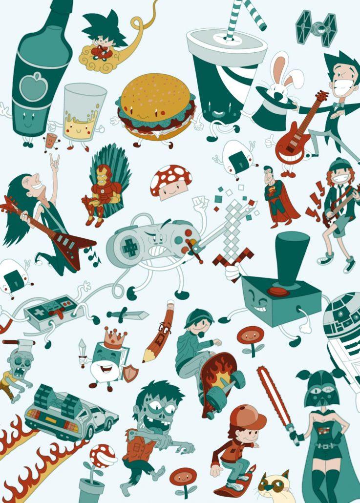 Poster vector illustration for Metropoli Gijón.