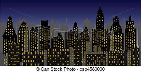 Clipart vettoriali di metropoli, vettore,.