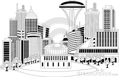 Modern City Metropolis Stock Vector.