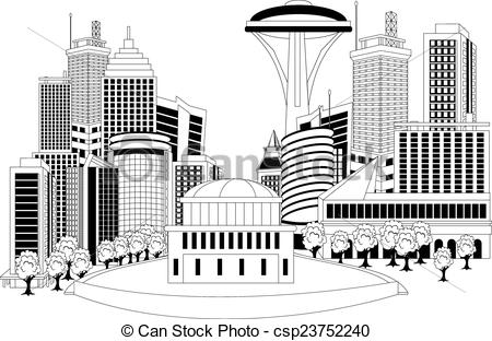 EPS Vector of Modern city metropolis.