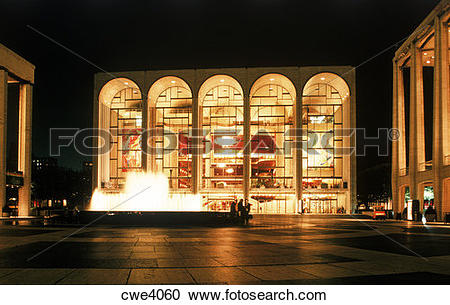 Stock Photography of Lincoln Center for the Performing Arts.